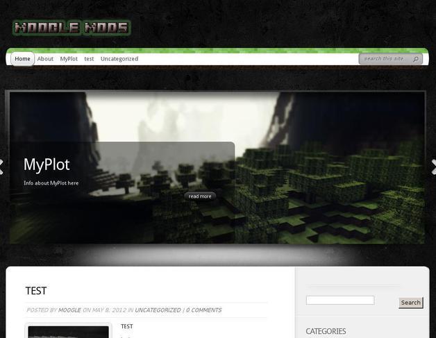 minecraft wordpress theme