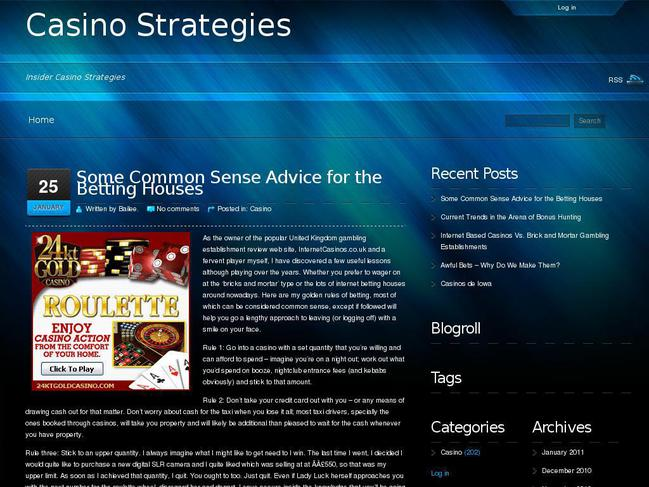 Strategies casino jg casino