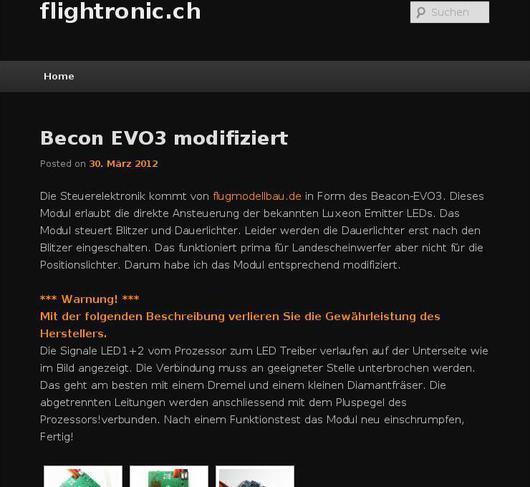 flightronic.ch screenshot