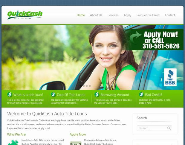 Website quickcashla.com created using WordPress Theme ECOBIZ