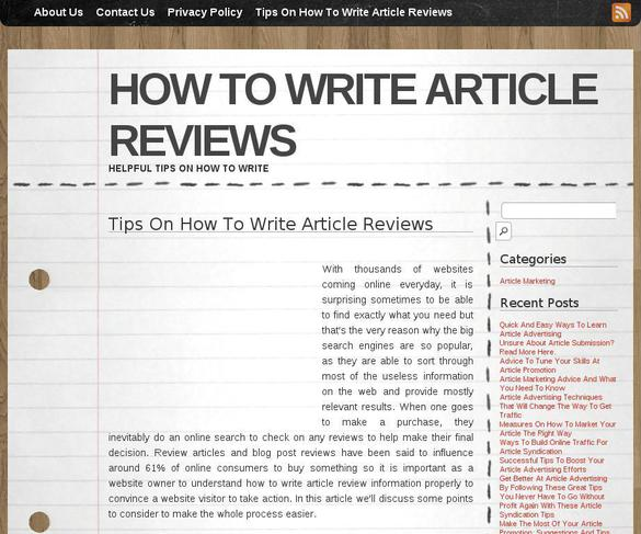 how to write a film review example How to write a review of a film i recently received a letter from a cpe candidate asking for some tips on how to write a film review and what information to include and not to include in it i hope you find this post useful.