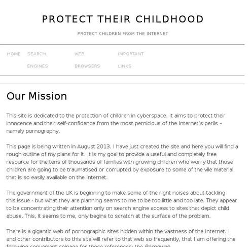 the issue of internet pornography and the protection of children from pornographic sites Learn about the laws which protect children and the public court upheld the children's internet protection act hundreds of pornographic web sites.