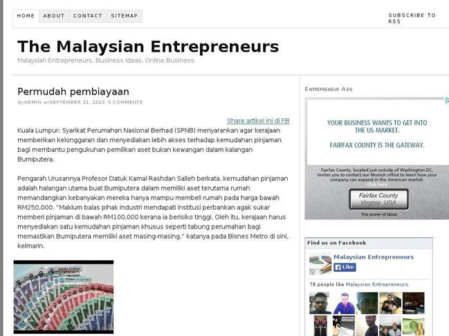 thesis on entrepreneurship in malaysia Ethnic chinese entrepreneurship in malaysia: on contextualisation in international business studies by michael jakobsen (review.