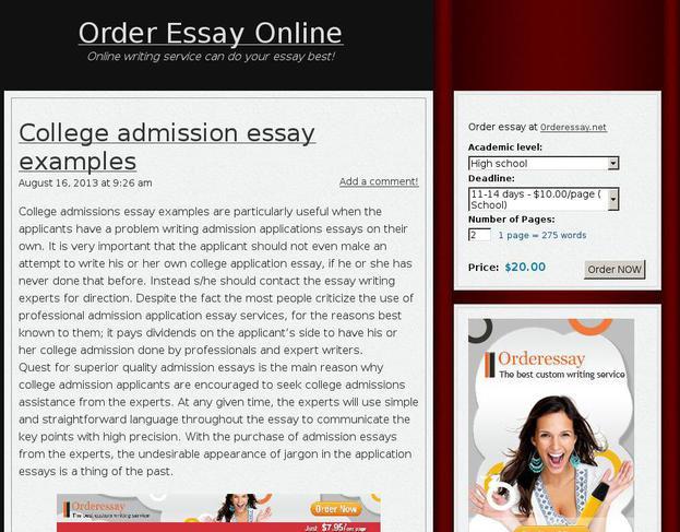 Order Essays Online