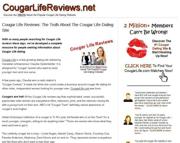 Does cougar dating site work