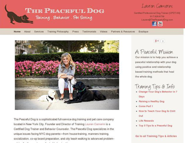 picture of thepeacefuldog.com