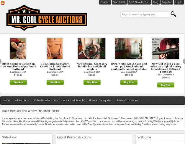 Website Mrcoolcycleauctions Com Created Using Wordpress