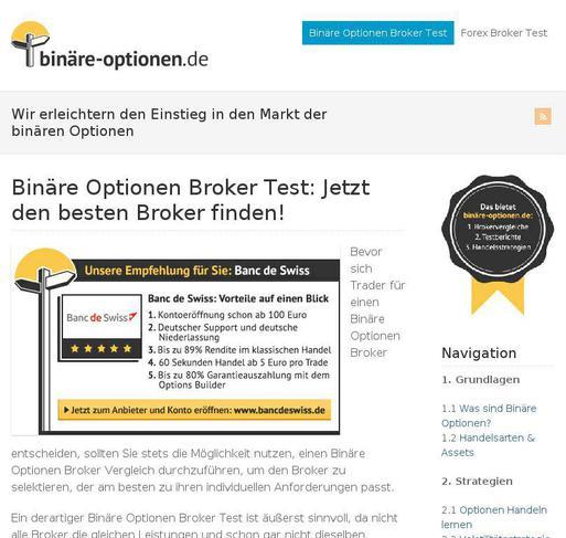 binäre optionen deutsche broker