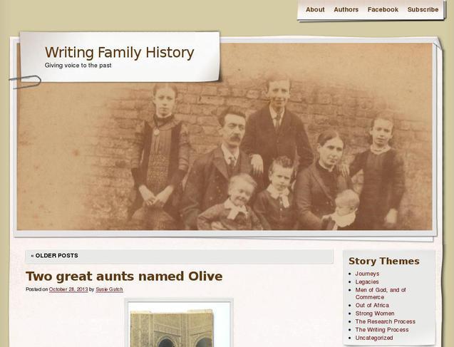 writing family history