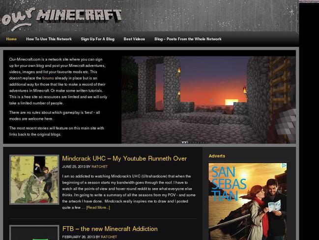 Minecraft Website Templates HorizonWordpress