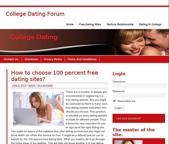 Online chatting and dating site