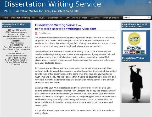 dissertation writers hire