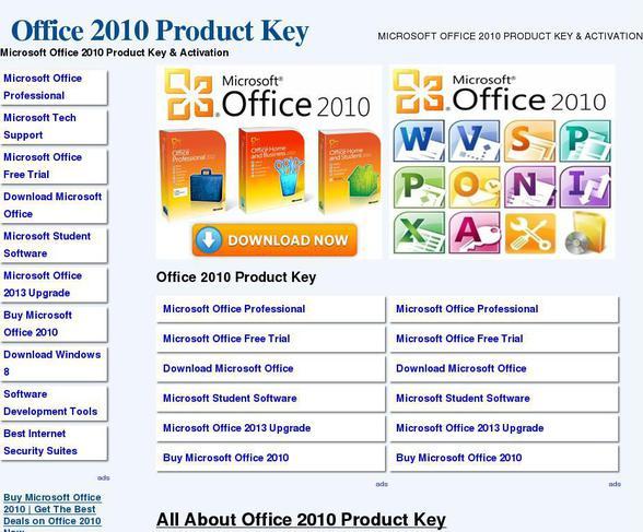 microsoft office standard 2010 activation key